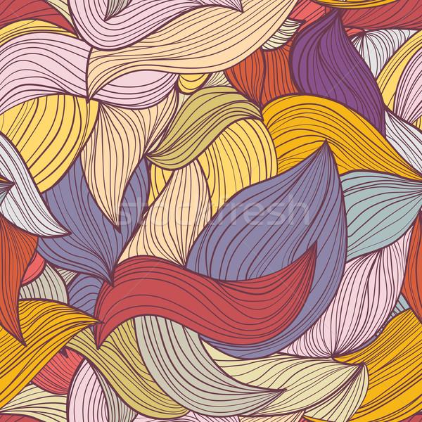 Végtelenített absztrakt hullámok minta hullámos végtelen minta Stock fotó © LittleCuckoo