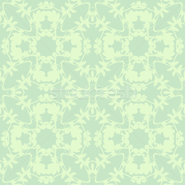 Neutral floral wallpaper planta curvas Foto stock © LittleCuckoo