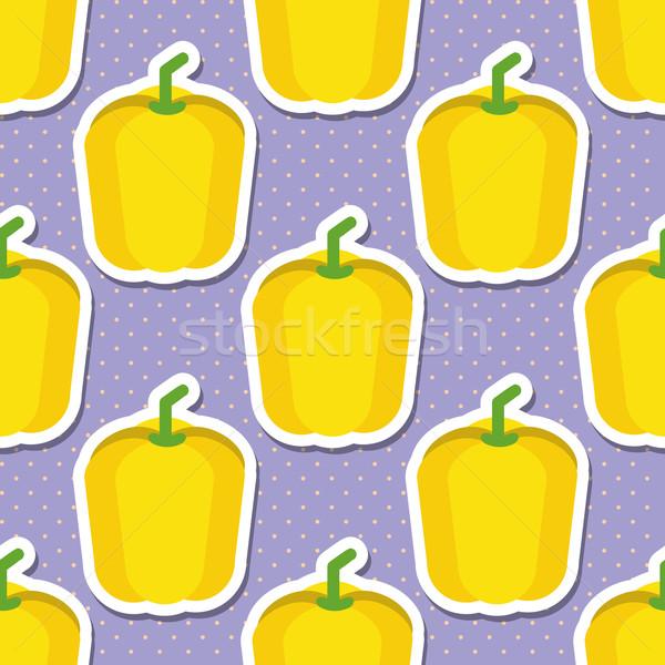 Páprica padrão sem costura textura maduro doce Foto stock © LittleCuckoo
