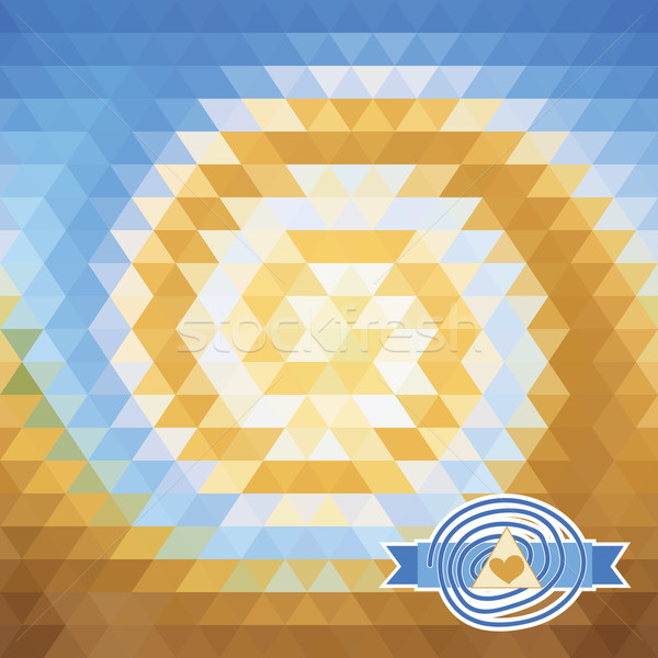 background with triangles. illusion vortex Stock photo © LittleCuckoo