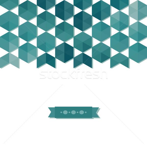 Absztrakt szalag hatszög háttér képeslap mértani Stock fotó © LittleCuckoo