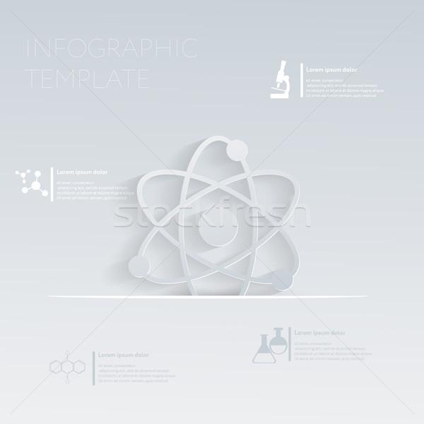 átomo plantilla gráfico sitio web disposición símbolo Foto stock © LittleCuckoo
