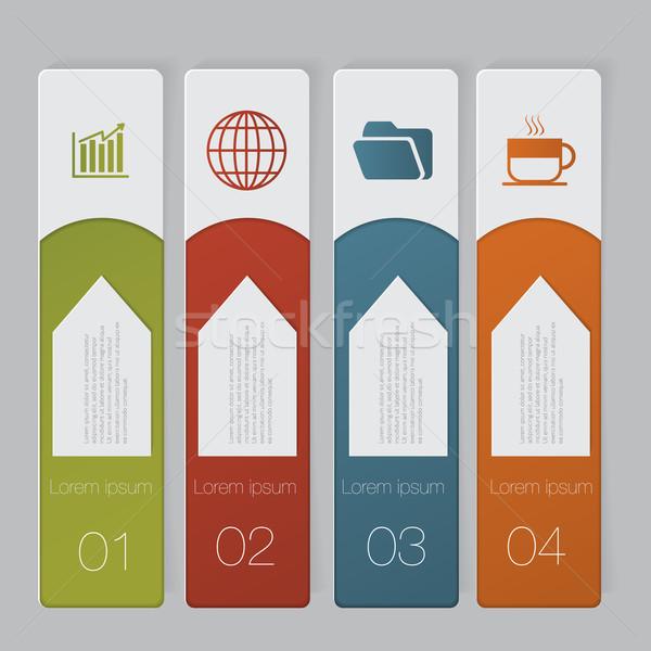Ontwerp aantal banners sjabloon grafische Stockfoto © LittleCuckoo