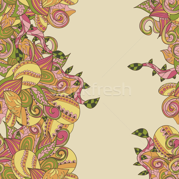 border with abstract hand-drawn pattern Stock photo © LittleCuckoo