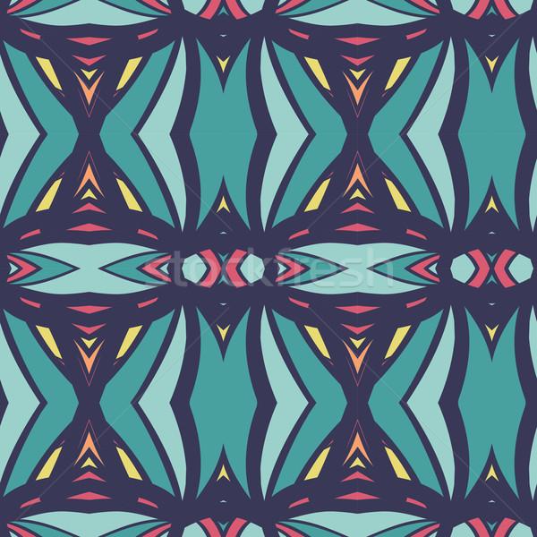 Abstract naadloos ornament effect patroon caleidoscoop Stockfoto © LittleCuckoo