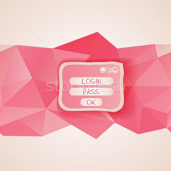 web interface with button. menu template Stock photo © LittleCuckoo