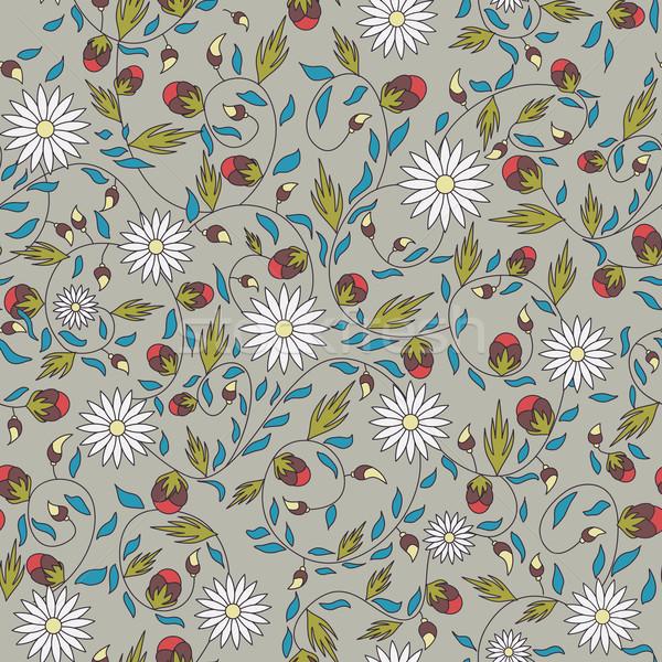 ヒマワリ 花 シームレス 抽象的な デザイン 葉 ストックフォト © LittleCuckoo