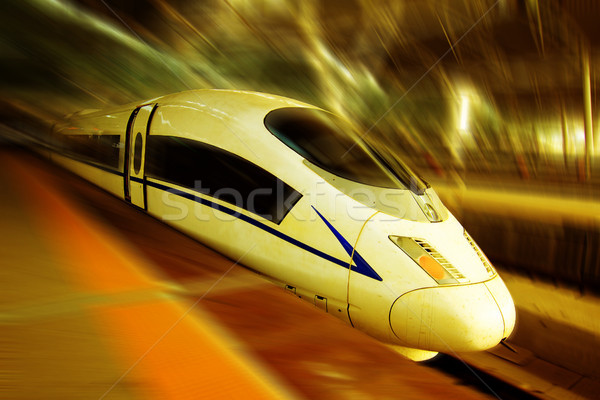 Stockfoto: Trein · moderne · abstract · technologie