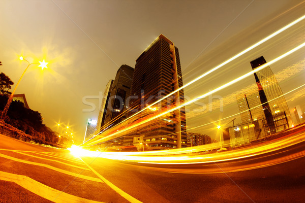 Licht modern gebouw stad hemel abstract straat Stockfoto © liufuyu