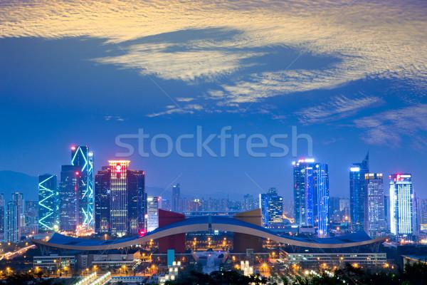 Speciaal economisch business gebouw stad Stockfoto © liufuyu