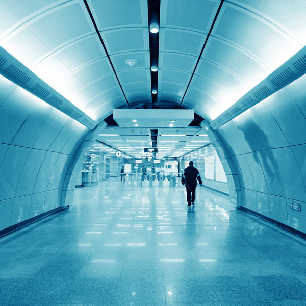 Metro stedelijke blues business leven pijl Stockfoto © liufuyu