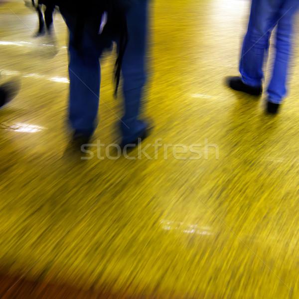 Passagiers metro station gebouw stedelijke snelheid Stockfoto © liufuyu