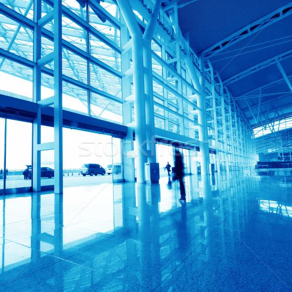 Internationale luchthaven moderne China weg gebouw Stockfoto © liufuyu