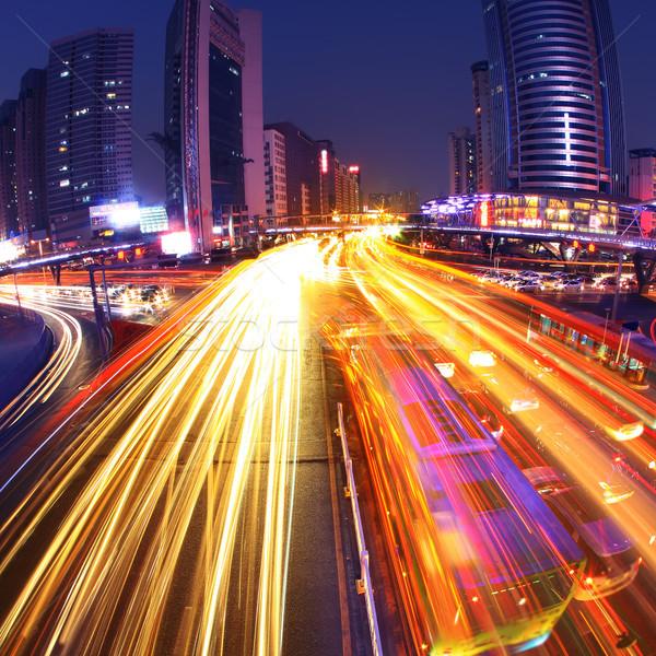 Licht modern gebouw China business landschap straat Stockfoto © liufuyu