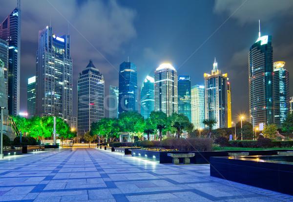 Сток-фото: Шанхай · красивой · финансовых · центр · небе