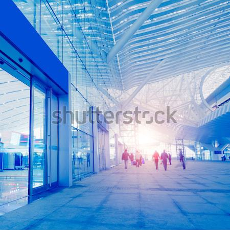 Abstract architectuur tunnel moderne architectuur ruimte muur Stockfoto © liufuyu