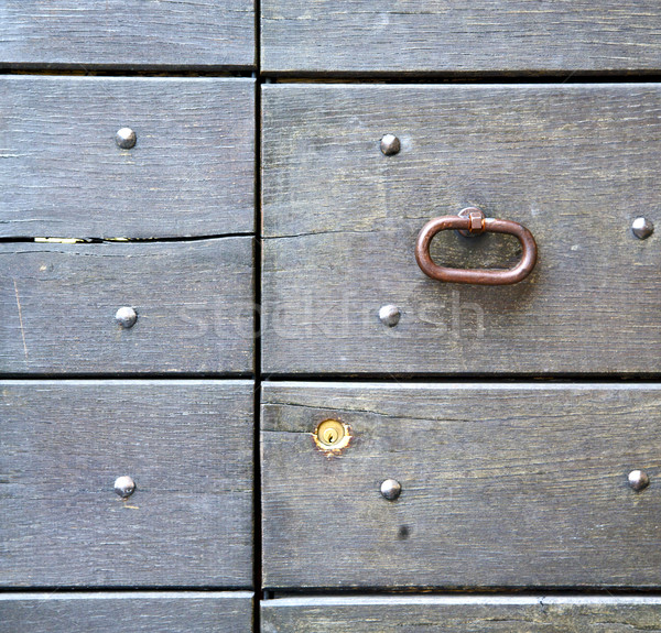 abstract   rusty  in   door curch  closed wood lombardy italy  v Stock photo © lkpro