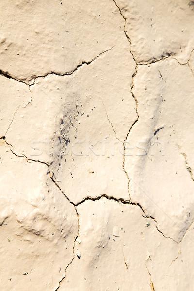 Marrom secar areia branco deserto Foto stock © lkpro