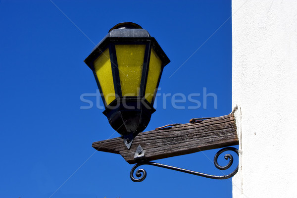 street lamp and a wall in colonia del sacramento Stock photo © lkpro