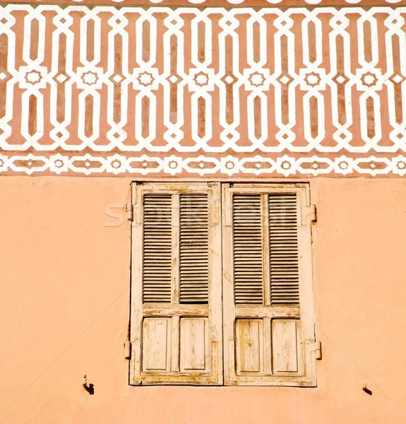 Venster Marokko oranje bouw baksteen historisch Stockfoto © lkpro