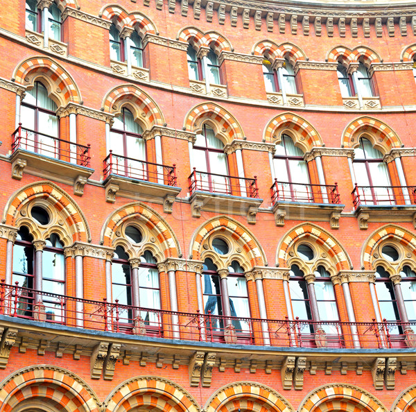 Edad pared arquitectura Londres Inglaterra Windows Foto stock © lkpro