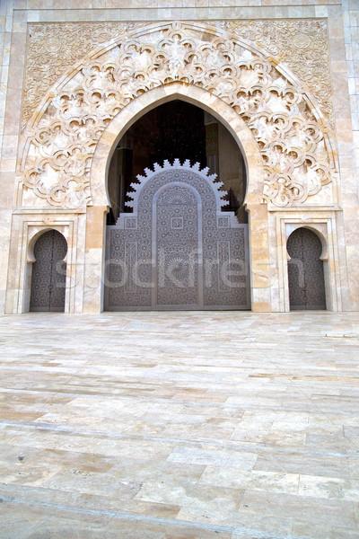 Történelmi antik épület ajtó márvány Marokkó Stock fotó © lkpro