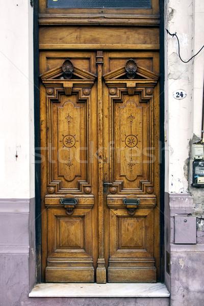brown old door in  argentina Stock photo © lkpro