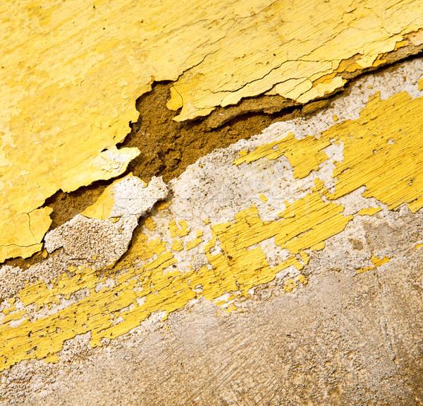 Sarı doku duvar Fas Afrika soyut Stok fotoğraf © lkpro