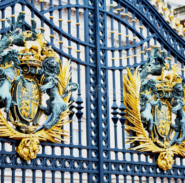 in london england the old metal gate  royal palace Stock photo © lkpro