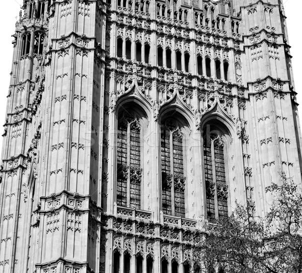 ロンドン 古い 歴史的 議会 ガラス ウィンドウ ストックフォト © lkpro