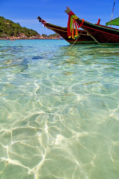 asia  the  bay kho   boat   thailand  and south china sea anchor Stock photo © lkpro