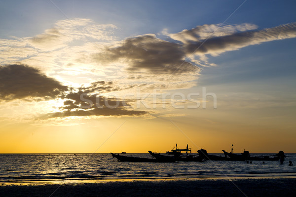 asia in the  kho tao bay isle sunset  Stock photo © lkpro