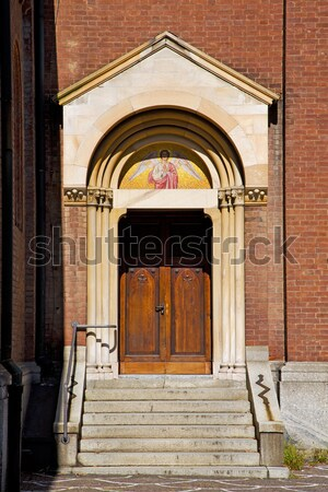 Photo stock: Porte · Italie · colonne · saint · trottoir