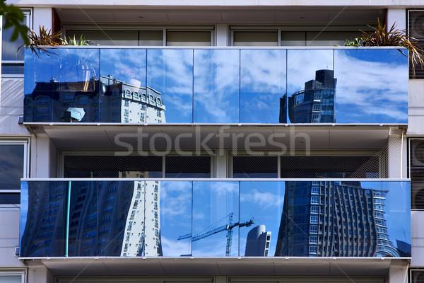 Reflexo palácio janela plantas centro Buenos Aires Foto stock © lkpro