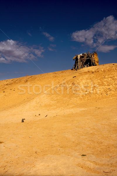 Fülke sivatag homok kő fekete felhő Stock fotó © lkpro