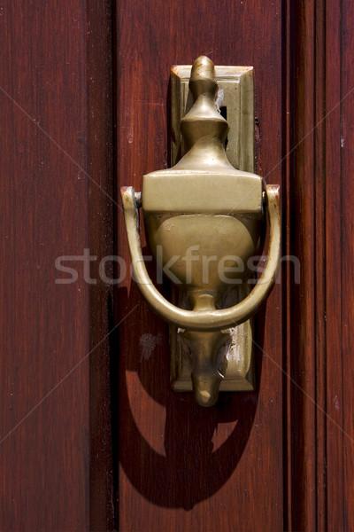 Messing hout bruin deur bal Rood Stockfoto © lkpro