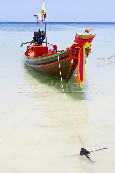 anchor thailand   kho tao bay asia isle blue  Stock photo © lkpro