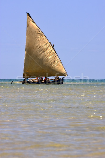 sailing in madagascar sea Stock photo © lkpro