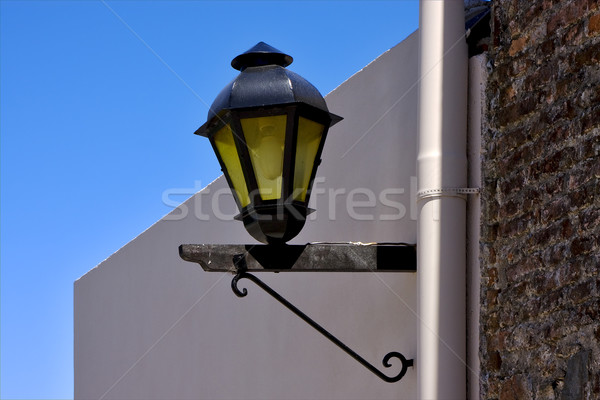 street lamp and a water pipe in colonia del sacramento Stock photo © lkpro