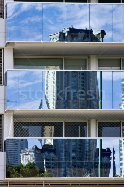 Reflexo palácio janela centro Buenos Aires Foto stock © lkpro