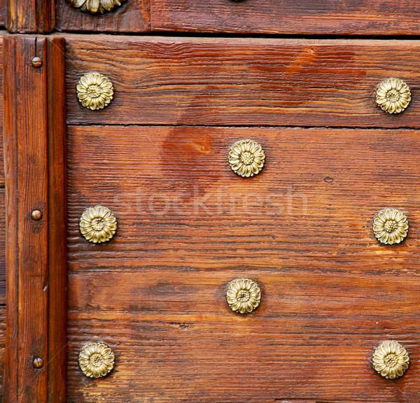 Abstrato enferrujado latão marrom porta Itália Foto stock © lkpro
