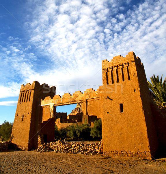 africa  in histoycal maroc  old construction  and the blue cloud Stock photo © lkpro