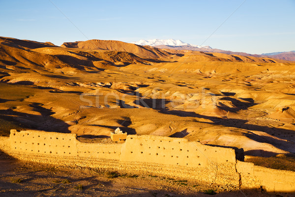 Tepe Afrika Fas eski tarihsel köy Stok fotoğraf © lkpro
