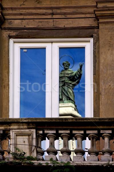 a saint in the window Stock photo © lkpro