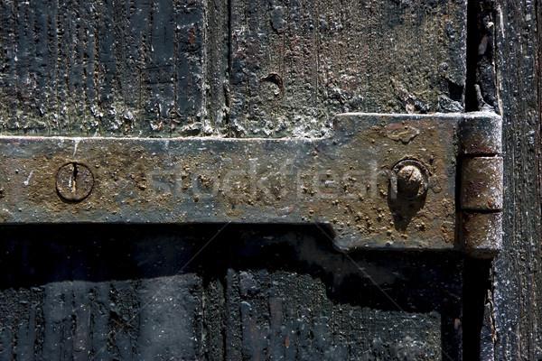 古い 鉄 金属 ロック ネジ 木材 ストックフォト © lkpro