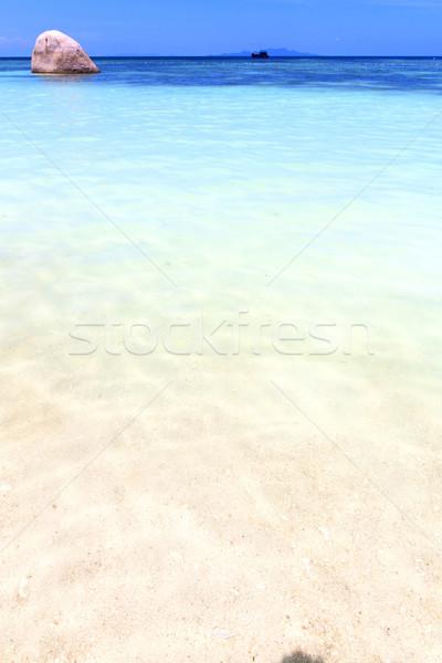 asia  the  kho tao bay isle white  beach    rocks house boat     Stock photo © lkpro