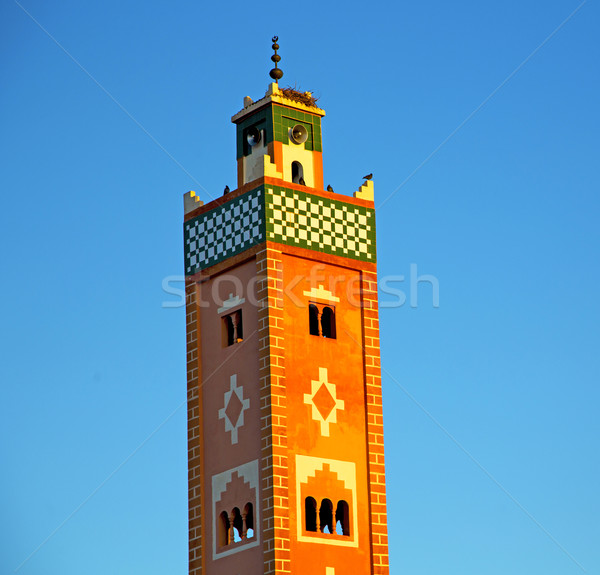 muslim   in   mosque  the history  symbol morocco  africa  mina Stock photo © lkpro