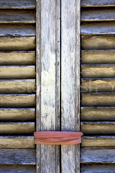 Bruin hout jaloezie roze touw textuur Stockfoto © lkpro