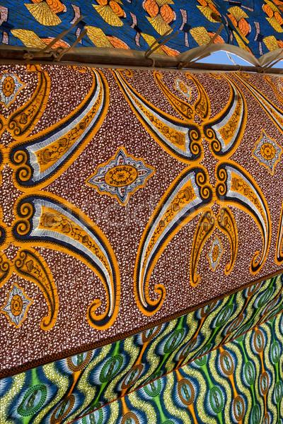 Színek szél színes pamut textúra zöld Stock fotó © lkpro
