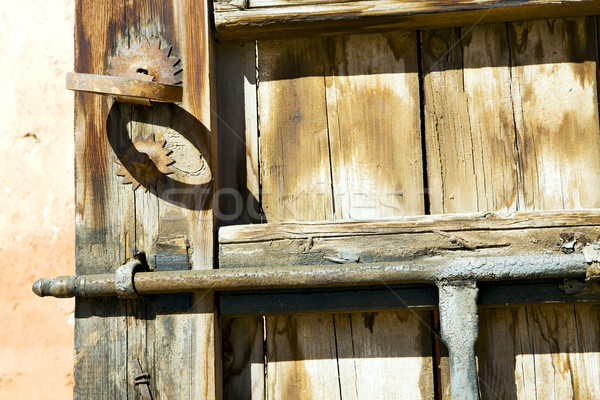 metal rusty  brown     in africa the old   home and safe padlock Stock photo © lkpro
